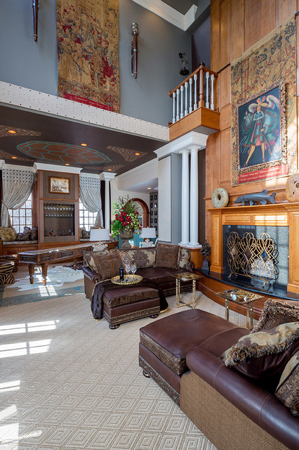 Massoud Furniture Spaces Eclectic with Architectural Salvage Balcony Bar
