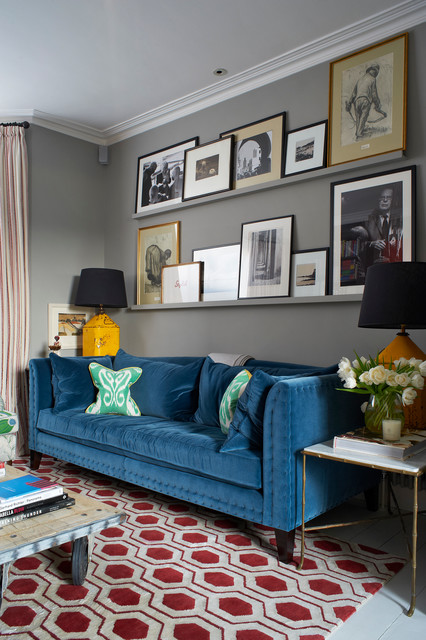 Matted Picture Frames Living Room Transitional with Art Art Collection Art