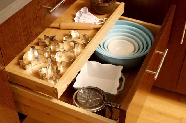 measuring spoons Spaces Contemporary with baking Bowl Storage cabinet