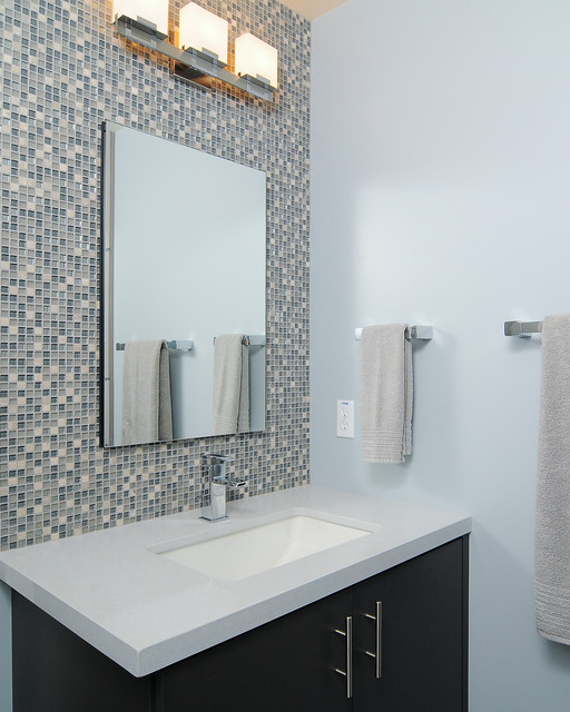 Merola Tile Bathroom Contemporary with All American All American