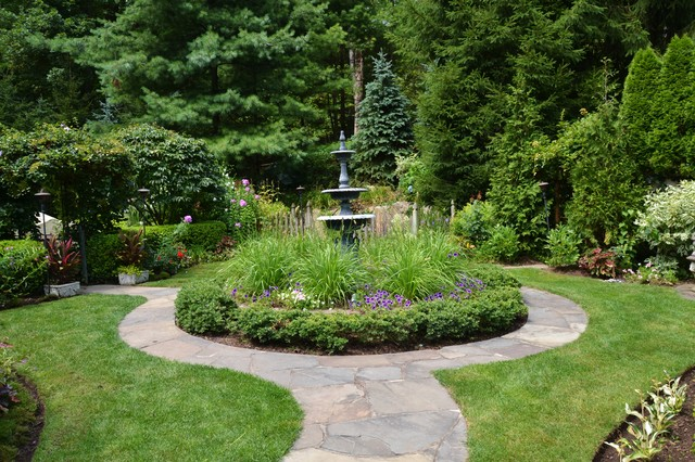 Merrifield Garden Center Landscape Traditional with Aquatic Courtyard Curved Flagstone