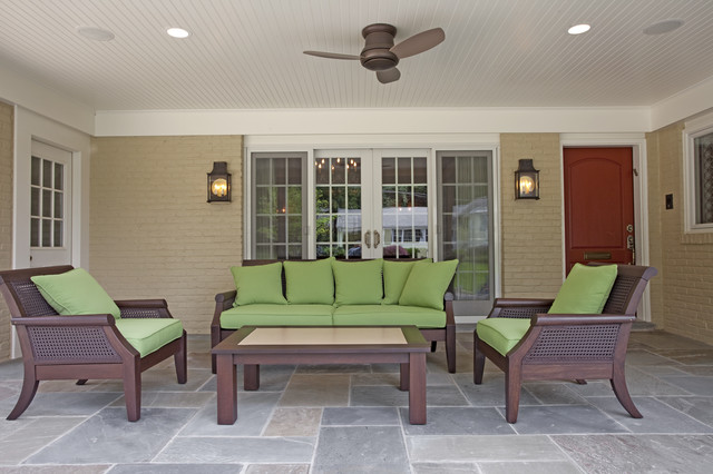 Minka Lavery Lighting Patio Contemporary with Brick Wall Ceiling Fan