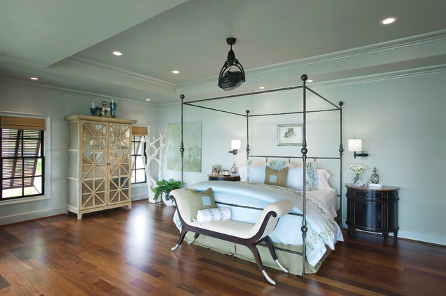 Mirrored Armoire Bedroom Tropical with Beach House Bed Bedding