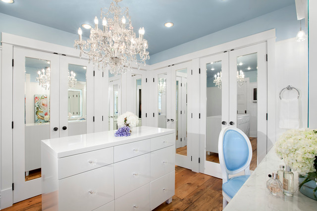 Mirrored Closet Doors Closet Transitional with Bc Beige Countertop Canada1