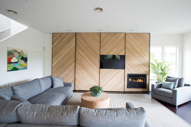 Modular Couch Living Room with American Oak Contemporary Furniture