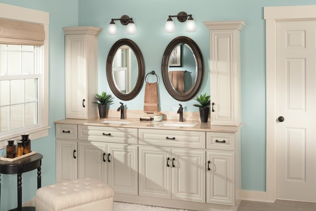 Moen Brantford Bathroom Traditional with Blue Bathroom Bronze Bath