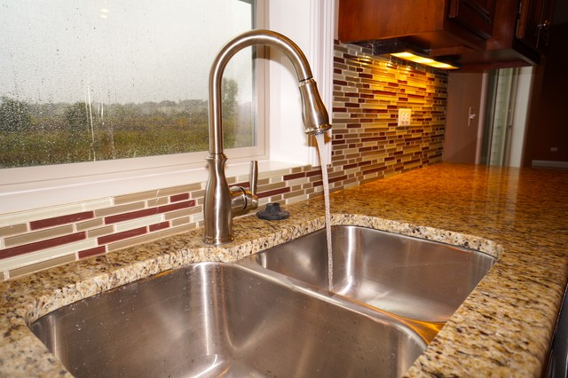 Moen Brantford Kitchen Traditional with Backspash Backsplash Brantford Cabinet