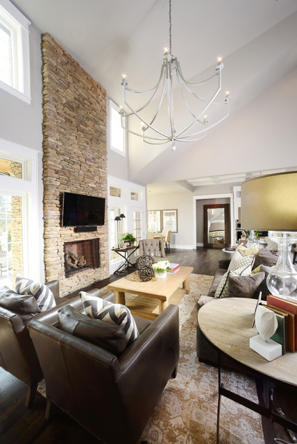 Mounting Tv Above Fireplace Living Room Traditional with Beige Drum Lamp Shade