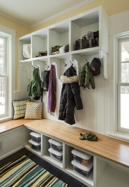 Mudroom Bench Entry Traditional with Area Rug Bench Seating