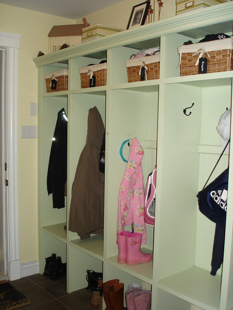 Mudroom Lockers Entry Traditional with Baseboard Built Ins Cest