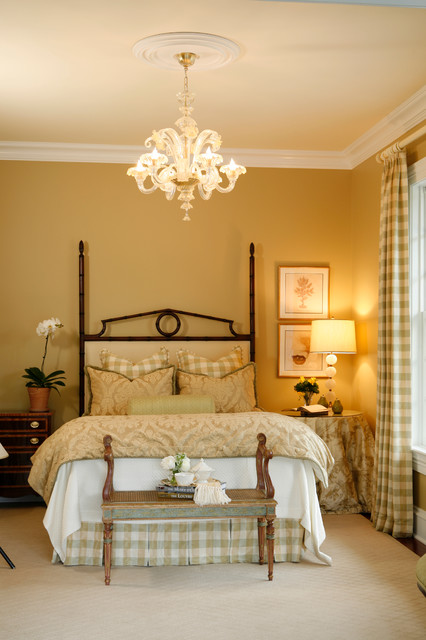 Murano Glass Chandelier Bedroom Traditional with Bedroom Bench Bedscape Bedskirt