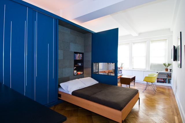 murphy bed ikea Bedroom Contemporary with blue casters coffee table