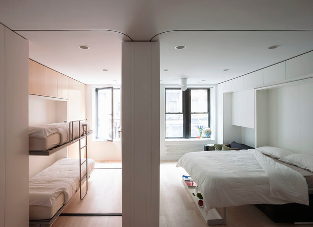 Murphy Bunk Beds Bedroom Modern with Built in Cabinets Built in Storage