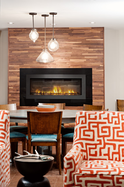 Napoleon Fireplaces Basement Contemporary with Gas Fireplace Hole In