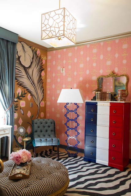 Narrow Chest of Drawers Bedroom Eclectic with Area Rug Bold Patterns