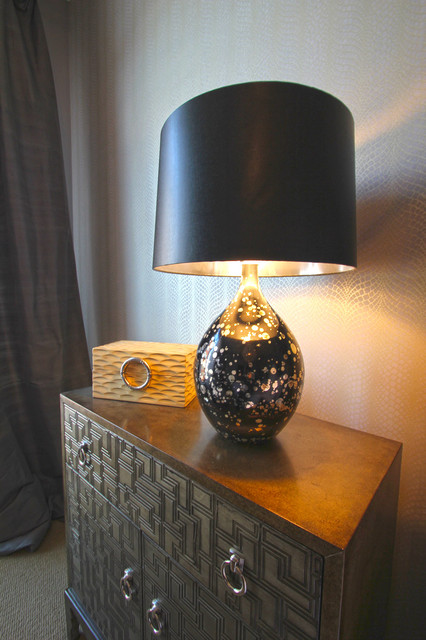 Nightstand Lamp Bedroom Transitional with Jewelry Box Night Stand