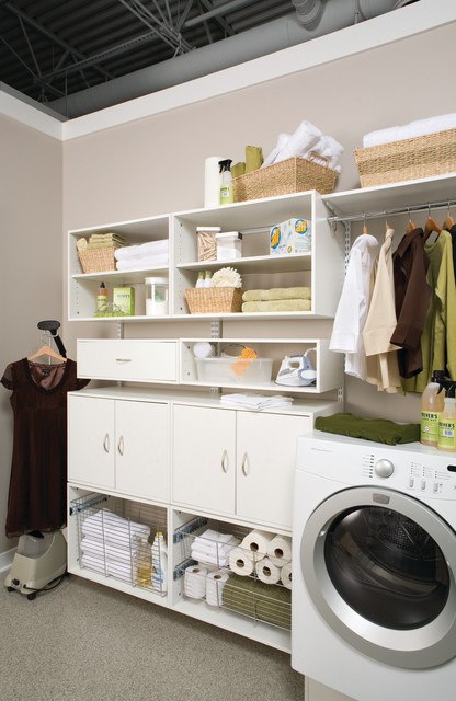 Organizer Bins Laundry Room Contemporary with Freedomrail Laundry Cabinets Laundry