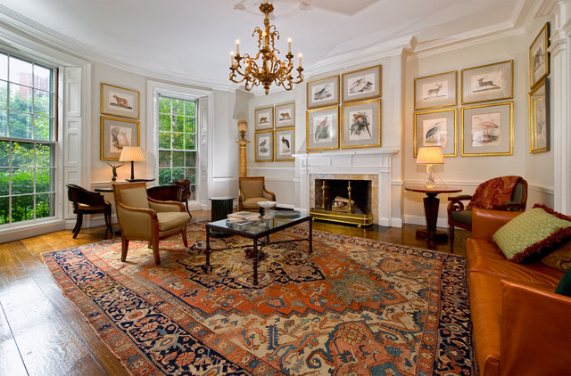 Oriental Weavers Living Room Traditional with Antique Oriental Rug Chair