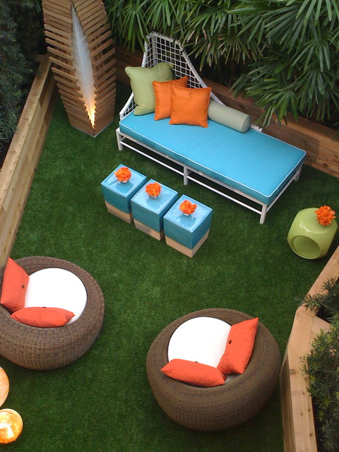 Outdoor Couch Cushions Patio Contemporary with Artificial Turf Bold Colors