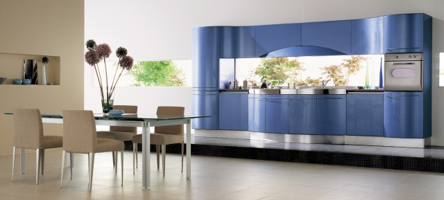 Oven Mitt Kitchen Contemporary with Blue Cabinets Cooktop Cupboard