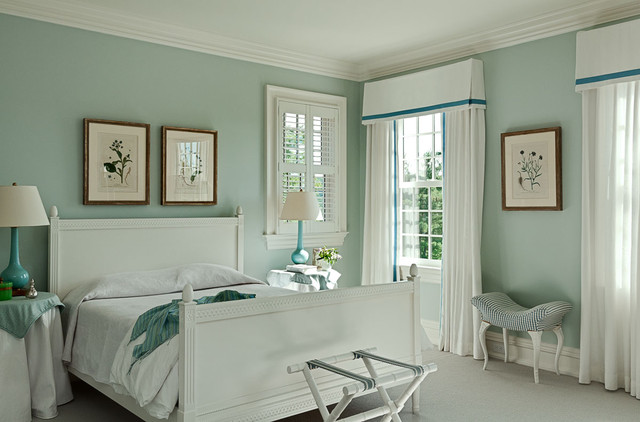 Palladian Blue Bedroom Traditional with Accessory Room Addition Bedroom