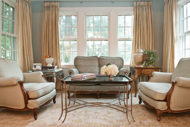 Palladian Blue Living Room Traditional with Area Rug Arm Chairs