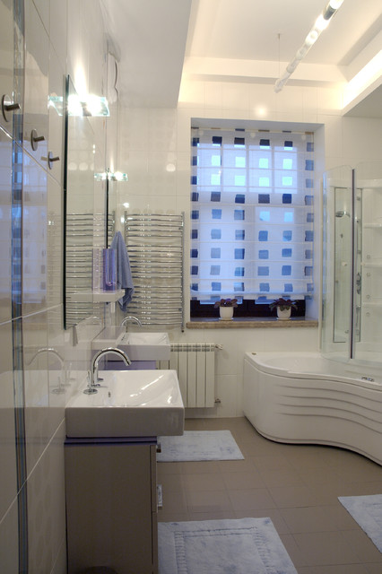 Paper Sorter Bathroom Eclectic with Bath Fixtures Ceiling Lighting