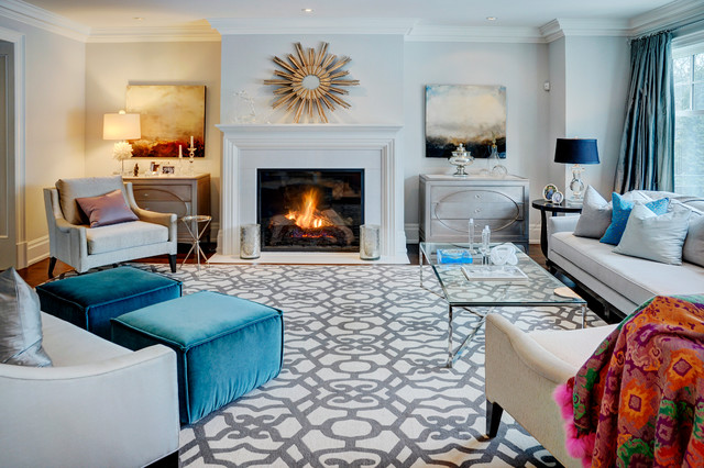 Peacock Rug Family Room Contemporary with Arm Chairs Bolt Patterns