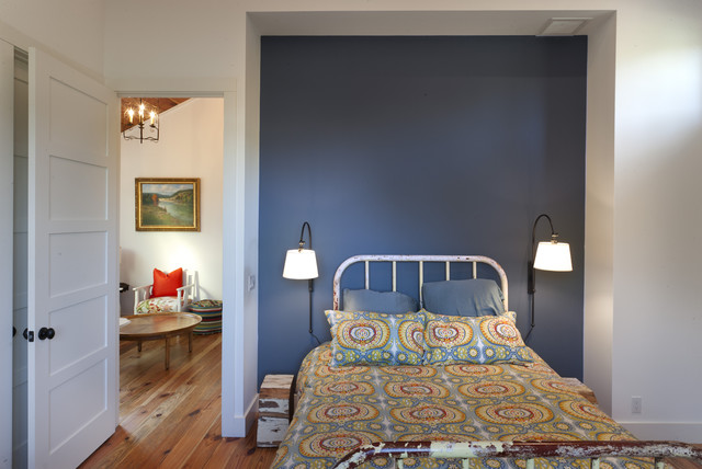Plug in Wall Sconce Bedroom Farmhouse with Accent Wall Alcove Blue