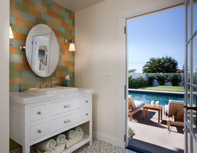 Plug in Wall Sconce Powder Room Transitional with and Sea Grass Breeze