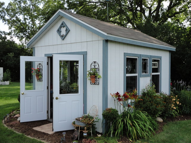 Prefab Sheds Garage and Shed Rustic with Blue Window Trim Burgundy