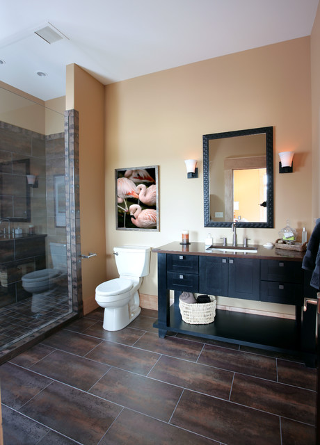 prosource flooring Bathroom Contemporary with bathroom lighting dark floor
