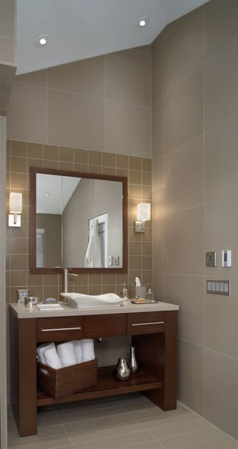 Rattan Baskets Bathroom Contemporary with Ceiling Lighting Drawer Pulls