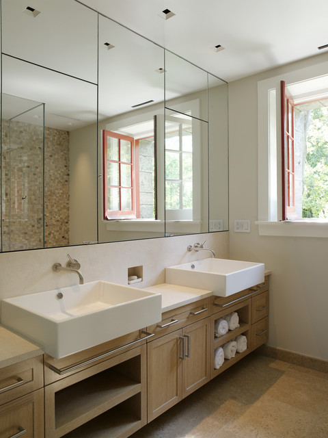recessed medicine cabinets Bathroom Contemporary with bathroom hardware bathroom mirror