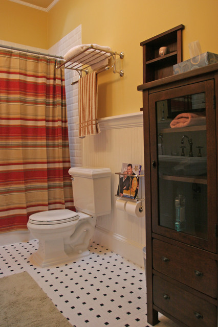 Recessed Toilet Paper Holder Bathroom Traditional with Baseboards Bathroom Storage Bathroom
