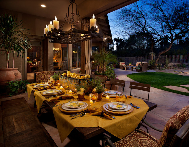 rectangle chandelier Patio Mediterranean with al fresco chandelier covered