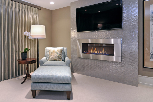 Regency Fireplace Bedroom Transitional with Barbara Barry Carpeting Chaise