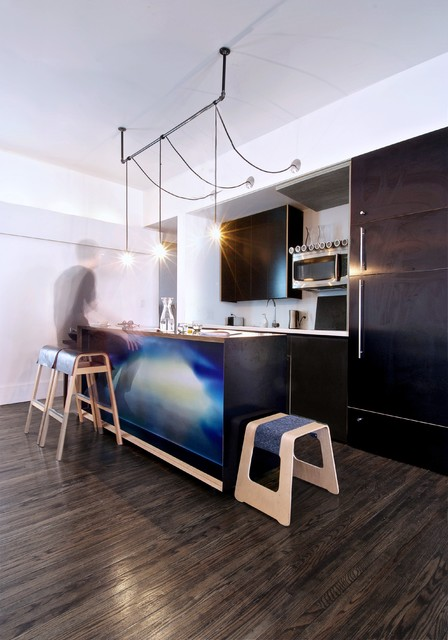 Regina Andrew Lighting Kitchen Industrial with Barstool Black Kitchen Cabinets