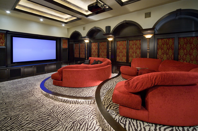 Robb and Stucky Home Theater Traditional with Home Theater Oversized Sofa