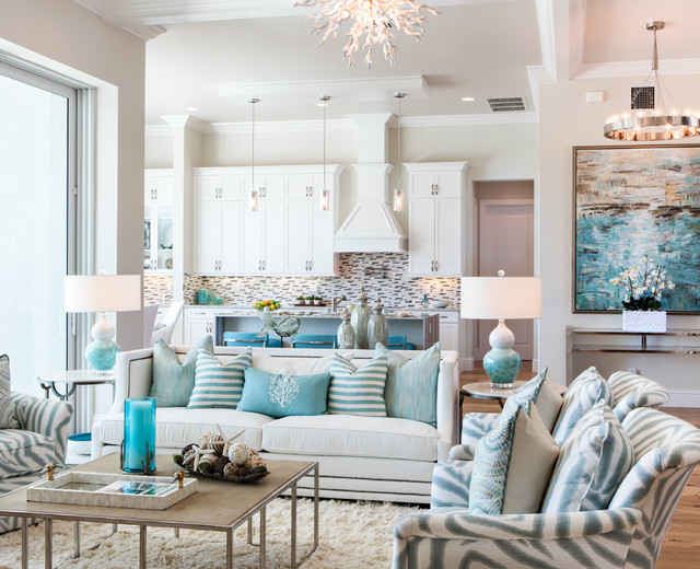 Robb and Stucky Living Room Beach with Candlesticks Coastal Cottage Coastal