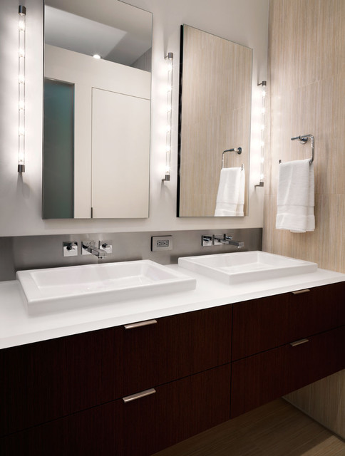 Robern Bathroom Contemporary with Bathroom Hardware Bathroom Lighting