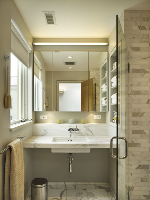 Robern Bathroom Transitional with Bathroom Lighting Bathroom Mirror