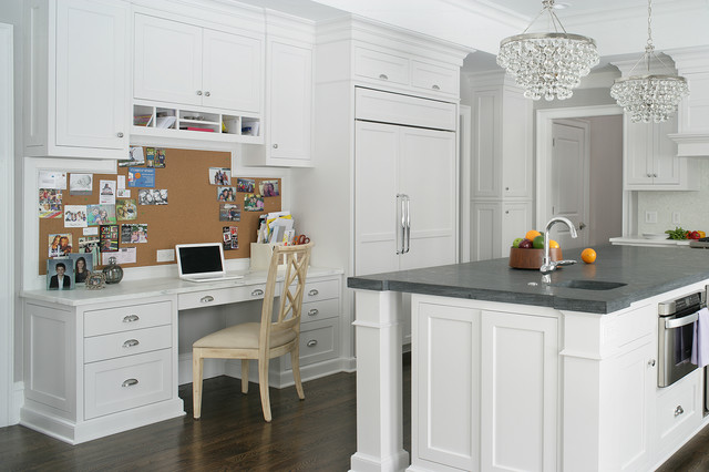 Robert Abbey Lighting Kitchen Transitional with Bulletin Board Grey Countertop