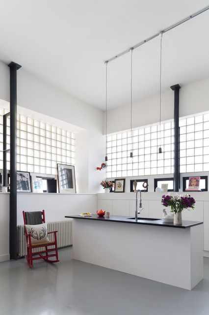 Rocking Chair Covers Kitchen Eclectic with Black Countertop Black Worktop