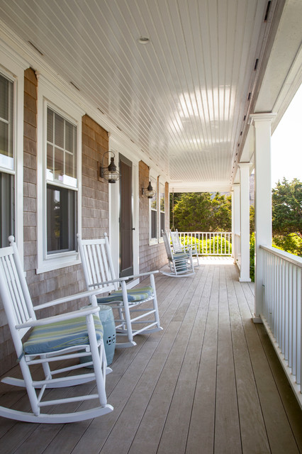 Rocking Chair Covers Porch Beach with Nantucket New England Porch