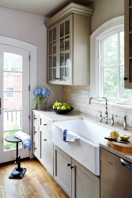 Rohl Sinks Kitchen Traditional with Arched Door Arched Window