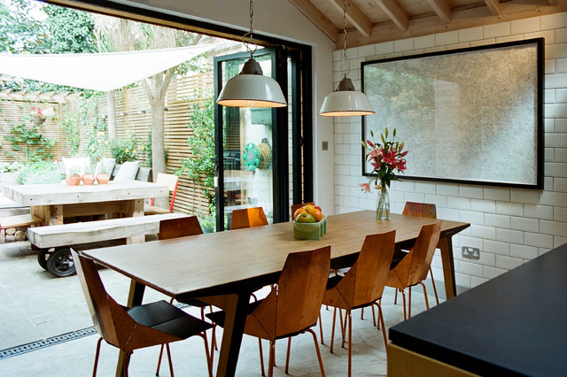 Rolly Chair Dining Room Contemporary with Dining Pendants Folding Doors