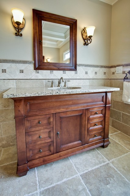 Ronbow Vanities Bathroom Traditional with Dark Stained Wood Furniture