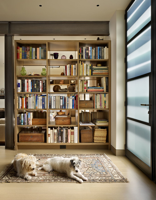 room divider bookcase Entry Contemporary with bookcase wall built-in bookcase