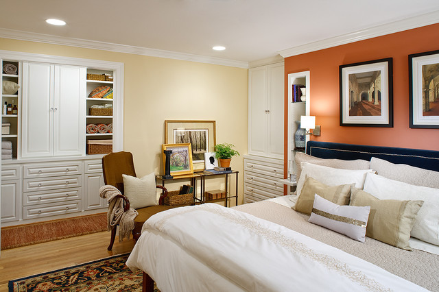 rta cabinets Bedroom Contemporary with built in cabinet butter